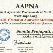 DOCTOR OF AYURVEDIC