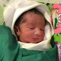 Healthy Baby born in london with aayushanti herbs and diet